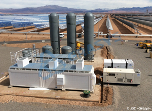 Launch of Grasys' nitrogen station for the world's largest Nur 1 solar power plant in Morocco