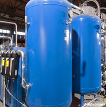 Adsorption oxygen stations for cylinders filling