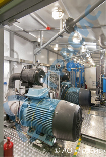 The RPC Grasys supplies an air compressor plant to the Vancor Field